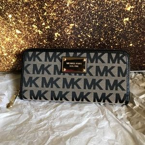 MICHAEL KORS CONTINENTAL JACQUARD WALLET *NEW*